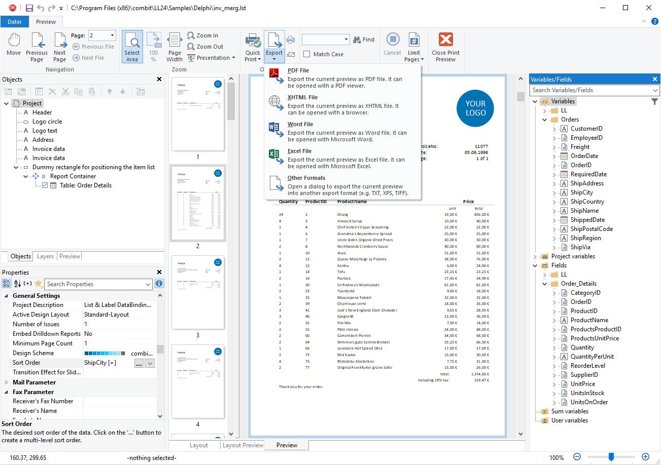 combit Development Blog: Brand New VCL Component for Delphi Developers